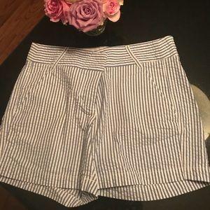 JCrew seersucker 4 pocket shorts size 2